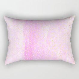 pink pastel with golden dots Rectangular Pillow