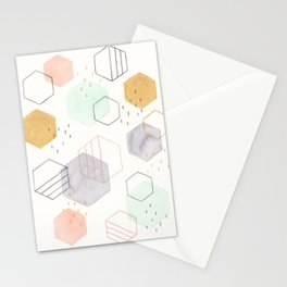 Hexagon Scatter Stationery Cards