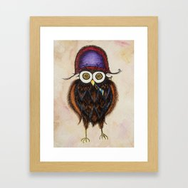 Admiral Hooterbottom Owl Framed Art Print