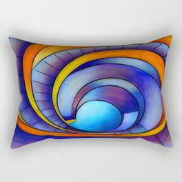 Melanissia - abstract moonrise Rectangular Pillow