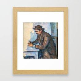 Paul Cezanne 1890-92 - The Cardplayer (Le Joueur de Cartes) Framed Art Print