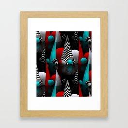 3D - abstraction -40- Framed Art Print