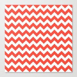 Red Chevron Canvas Print