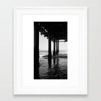 santa monica Framed Art Prints featuring Santa Monica by Jordan Dragojlovic