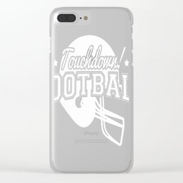 Football Clear iPhone Case