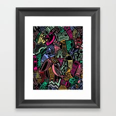 NIGHT AT THE VALLEY Framed Art Print