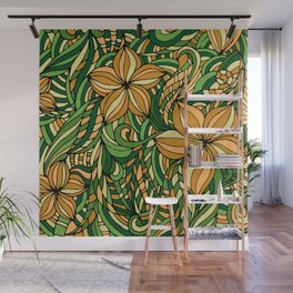 Floral ornament. Wall Mural