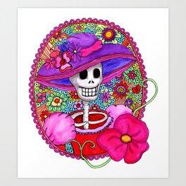 Mexican Catrina Art Print