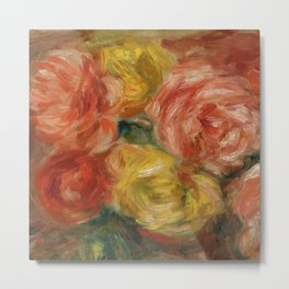 """Auguste Renoir """"Nature Morte Aux Roses (Still life with roses)"""" Metal Print"""