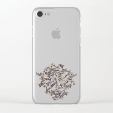 shark party red Clear iPhone Case