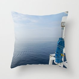 Blue And White Ship's Delight Throw Pillow