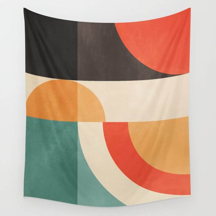 geometric abstract 20 Wall Tapestry