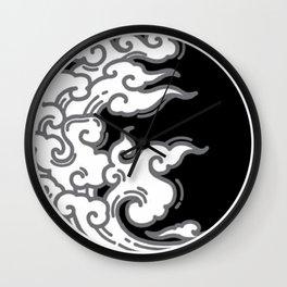 Japanese Circle 1 Wave Wall Clock