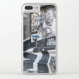 New York Graffiti 1 Clear iPhone Case