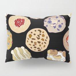 Cookies in Black Pillow Sham