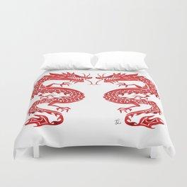 Chinese Dragon – Crimson Palette Duvet Cover