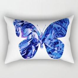 Fluid Butterfly (Blue Version) Rectangular Pillow