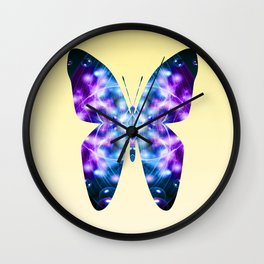 Butterfly 1 in blue and purple Wall Clock