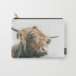 Majestic Highland cow portrait Carry-All Pouch