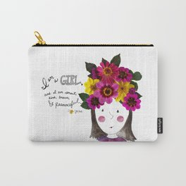 I'm a Girl Carry-All Pouch
