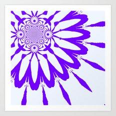 White & Purple Modern Flower Art Print