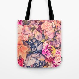 Beautiful background with different flowers Tote Bag