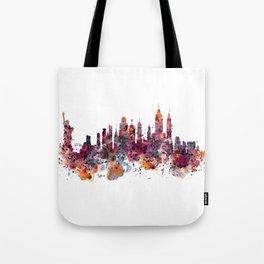 New York Skyline Silhouette Tote Bag