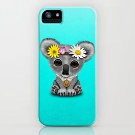 Cute Baby Koala Hippie iPhone Case