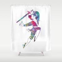 mulan Shower Curtains featuring Princess Mulan  by Bitter Moon