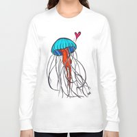 jelly fish Long Sleeve T-shirts featuring Jelly Fish by Josée Lennon