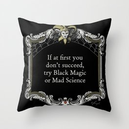 """The Goblin Market: """"Quitters Never Win"""" Throw Pillow"""