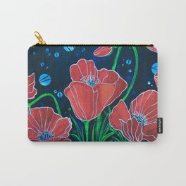 Stylized Red Poppies Carry-All Pouch