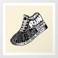 Run with Whatever Shoes Art Print