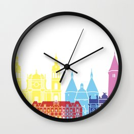 Nancy skyline pop Wall Clock