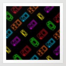 Game Boy Patterns Art Print