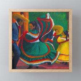 Baile Folklorico Framed Mini Art Print