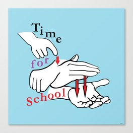 ASL Time for School Canvas Print