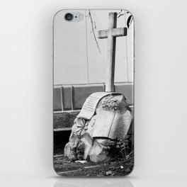 Grave with rose iPhone Skin