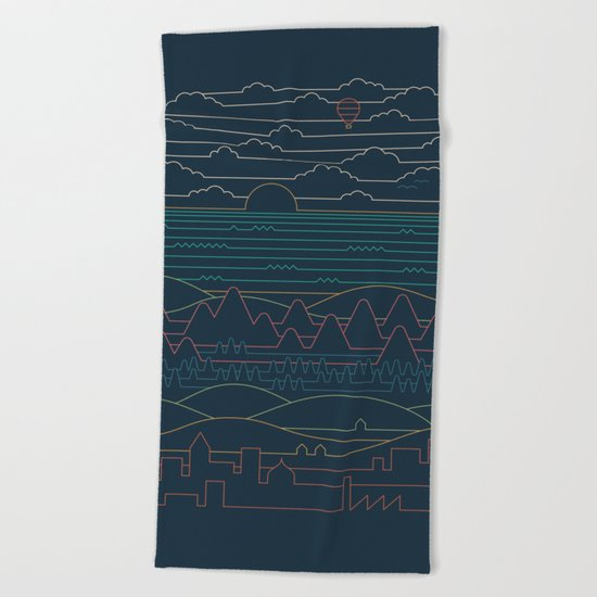 Linear Landscape Beach Towel