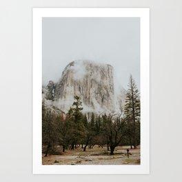 El Cap in the Fog Art Print