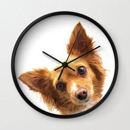 Curious Dog Portrait Wall Clock