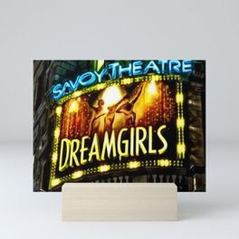 Savoy Theater Marque of Dreamgirls Broadway Musical portrait painting by Jeanpaul Ferro Mini Art Print