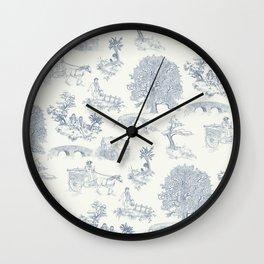 Shire Toile Wall Clock
