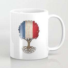 Vintage Tree of Life with Flag of France Coffee Mug