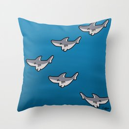 Little sharks Throw Pillow