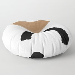Beige and Black Collage Floor Pillow