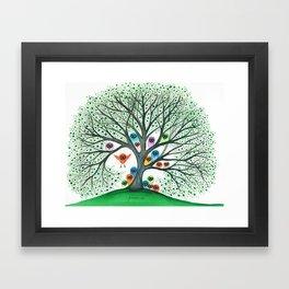 Teton Owls in Tree Framed Art Print