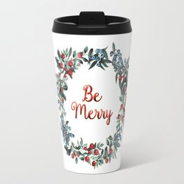 Be Merry! Berries Wreath Travel Mug