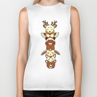 totem Biker Tanks featuring Totem by Freeminds