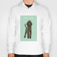 poodle Hoodies featuring Poodle by Katherine Coulton